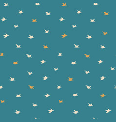 Little swallow birds seamless pattern with birds vector