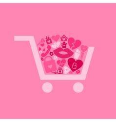 Love a cart vector