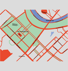 Map of sparrow hills in moscow in russian vector