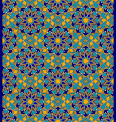 mosaic seamless pattern with arabic geometric vector image