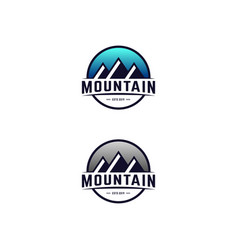 mountain modern design template vector image