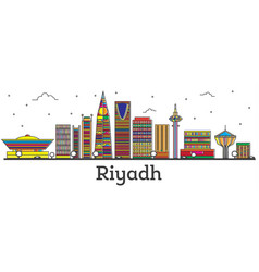 Outline riyadh saudi arabia city skyline with vector