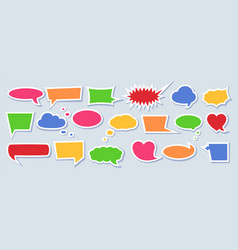 paper speech bubble set with space for phrases vector image