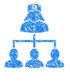 Patients nurse hierarchy grunge icon vector