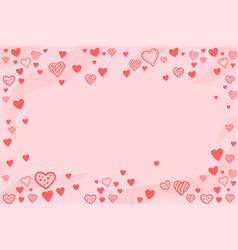 pink background with heart shapes and copy space vector image