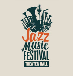 poster for a jazz music festival vector image