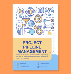 Project pipeline management poster template vector