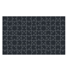 Puzzle jigsaw set of 104 pieces in vector