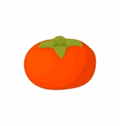 Ripe persimmon icon cartoon style vector