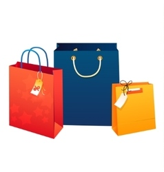 Sale poster of paper shopping bags vector image