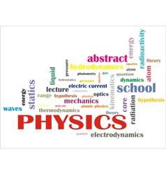 Science words vector