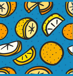 seamless pattern with oranges background vector image