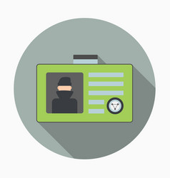 Secret agent id card vector