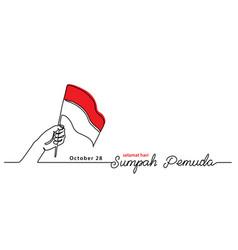 Selamat hari sumpah pemuda happy indonesian youth vector