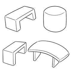 set bench vector image