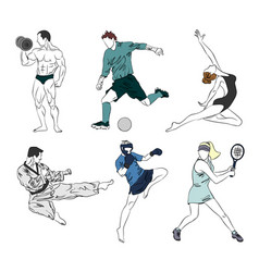 set of six sports vector image vector image