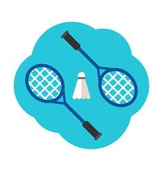 Sport Concept Badminton Rackets and shuttlecock vector