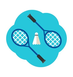 Sport Concept Badminton Rackets and shuttlecock vector image