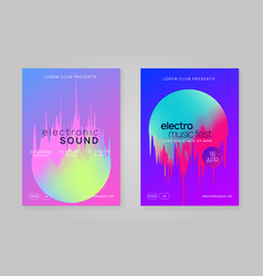 Summer poster and music fest flyer vector