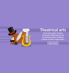 Theatrical arts banner horizontal concept vector
