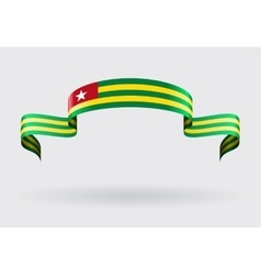 Togolese flag background vector