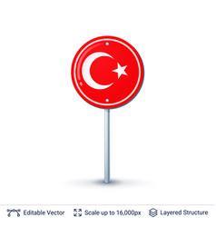 Turkey flag isolated on white vector