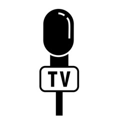 tv reporter microphone icon simple style vector image