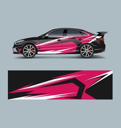 Wrap design for custom sport car sport racing car vector
