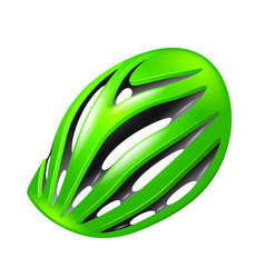 bicycle helmet isolated on white vector image