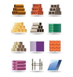 Building and constructions materials vector image vector image