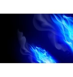 Fire flames effect vector image vector image
