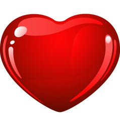 heart glossy vector image vector image
