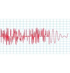 Seismograph vector image vector image