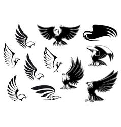 Eagles for logo tattoo or heraldic design vector image vector image