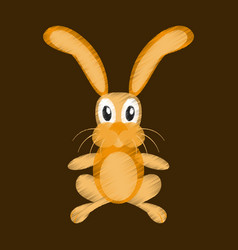 flat shading style icon toy hare vector image vector image