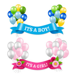 its a boy and girl vector image