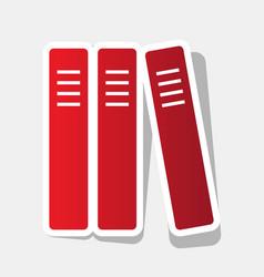 row of binders office folders icon new vector image