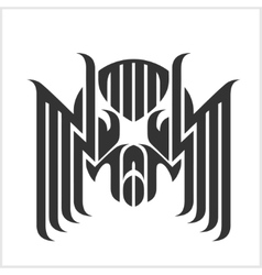 Spider Tattoos in tribal style Isolated on white vector image