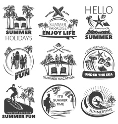 Summer Beach Label Set vector image vector image