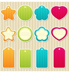 Tags and frames vector image