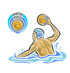 Water polo swimmer vector