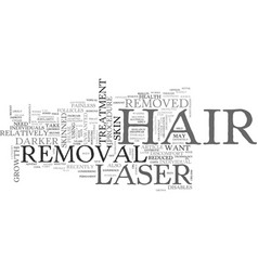 what you should know about laser hair removal vector image