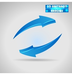 abstract blue arrows 3d vector image vector image