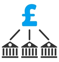 Bank Pound Expenses Flat Icon Symbol vector image