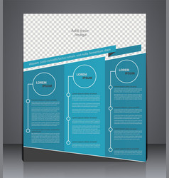 business brochure flyer design layout cover vector image vector image
