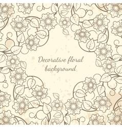 Decorative floral background vintage style vector image
