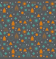 ethnic geometric seamless pattern abstract tribal vector image vector image