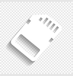 memory card sign white icon with soft vector image vector image