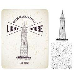 0000 light house vector image