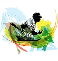 baseball player playing vector image vector image